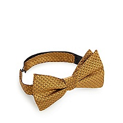 Hammond & Co. by Patrick Grant - Gold textured bow tie