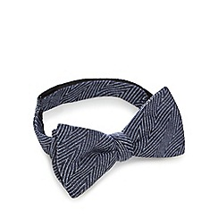 Hammond & Co. by Patrick Grant - Navy chevron bow tie