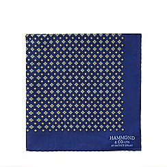 Hammond & Co. by Patrick Grant - Blue geometric pocket square