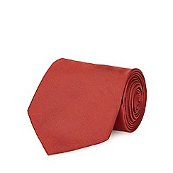 The Collection - Dark red plain tie