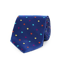 The Collection - Navy star print tie