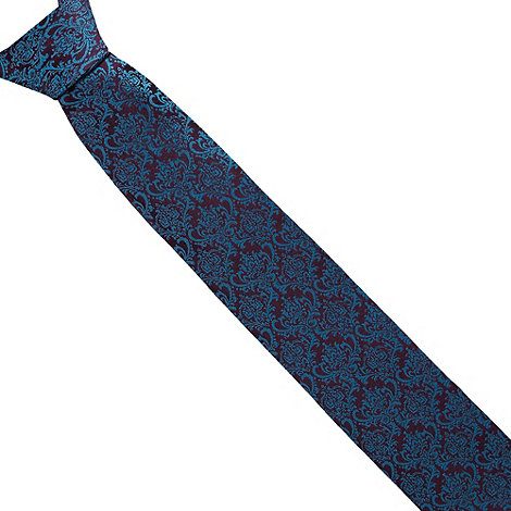 Thomas Nash - Blue damask tie
