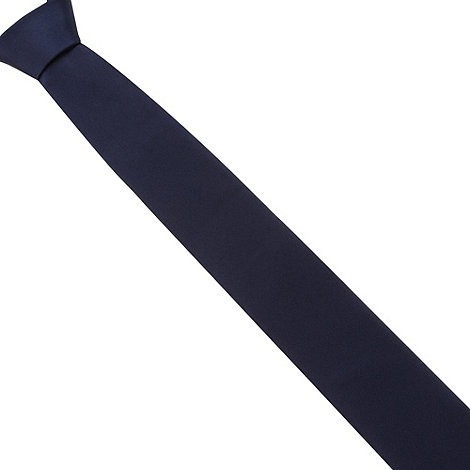 Thomas Nash - Navy plain slim tie