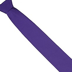 Thomas Nash - Dark purple slim  plain tie