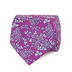 The Collection - Pink flower patterned tie