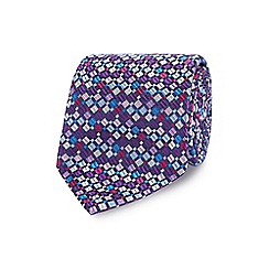 The Collection - Multicoloured patterned pure silk tie