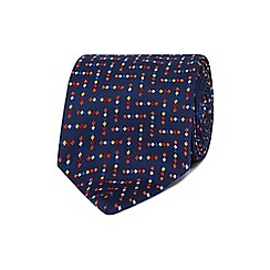 The Collection - Multicoloured chevron patterned pure silk tie
