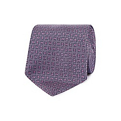 The Collection - Mauve jacquard square silk tie