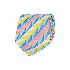 The Collection - Multi-coloured patterned woven silk tie