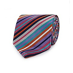 The Collection - Multi-coloured striped woven silk tie