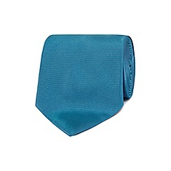 The Collection - Two tone teal woven silk tie