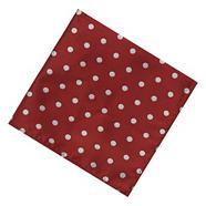 Wine polka dot pocket square