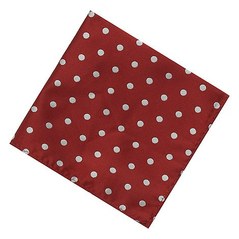 Black Tie - Wine polka dot pocket square