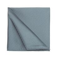 Dark green pin dotted jacquard pocket square