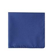 Navy pin dot pocket square