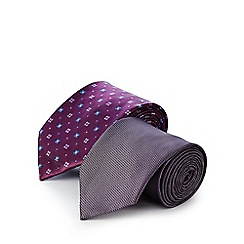 The Collection - Pack of two pink printed ties