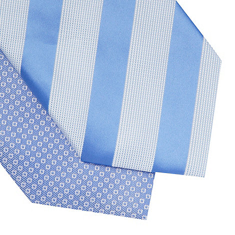 Thomas Nash - Pack of two blue patterned ties