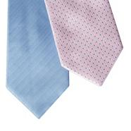 Light blue pack of two patterned ties
