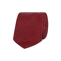 Black Tie - Red speckled tie