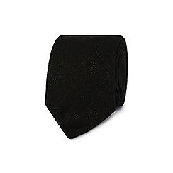 Black Tie - Black metallic speckled tie