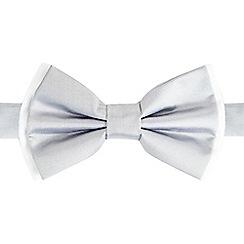 Black Tie - Silver ready tied bow tie