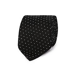 Black Tie - Black spot textured tie