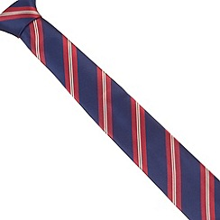 St George by Duffer - Navy textured diagonal striped tie