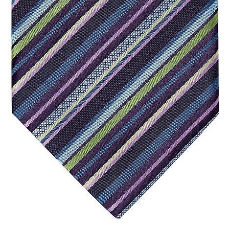 St George by Duffer - Blue varied striped slim tie