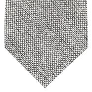 Grey knitted wool blend tie