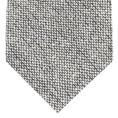 St George by Duffer - Grey knitted wool blend tie