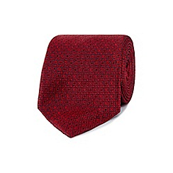 Osborne - Red tile print regular tie