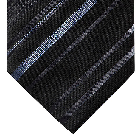 Red Herring - Silver varied striped skinny tie