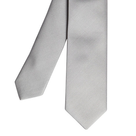 Red Herring - Silver plain skinny tie