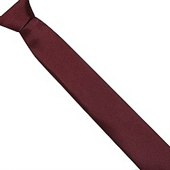 Red Herring - Wine plain skinny tie