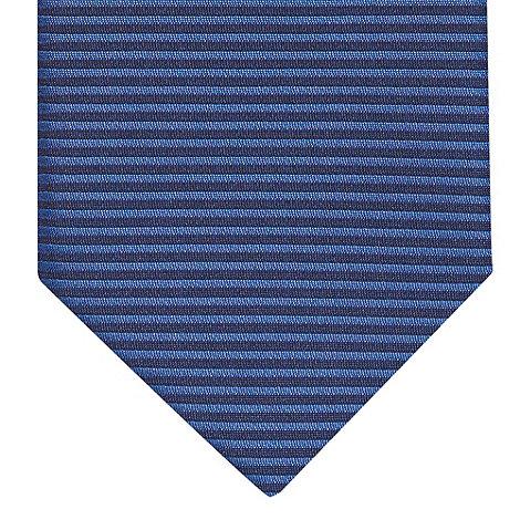 Red Herring - Navy horizontal striped slim skinny tie