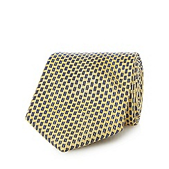 Osborne - Yellow pure silk basket weave tie