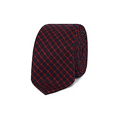 Red Herring - Navy checked slim tie