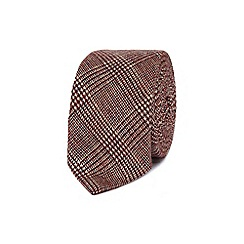 Red Herring - Burgundy dogtooth slim tie