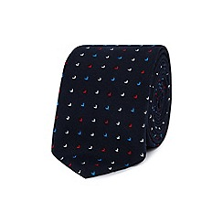 Red Herring - Navy flecked slim tie