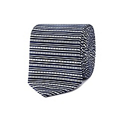 Red Herring - Blue textured stripe slim tie