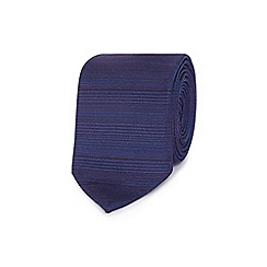 Red Herring - Purple fine stripe slim tie