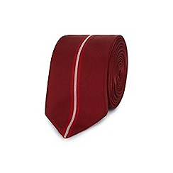 Red Herring - Red striped slim tie