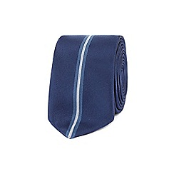 Red Herring - Navy sporting stripe slim tie