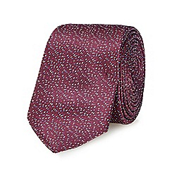Red Herring - Purple speckled slim tie
