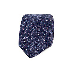 Red Herring - Multi-coloured speckled navy tie