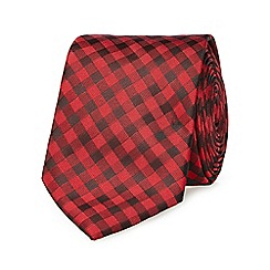 Red Herring - Red tonic gingham slim tie
