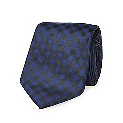 Red Herring - Navy tonic gingham slim tie