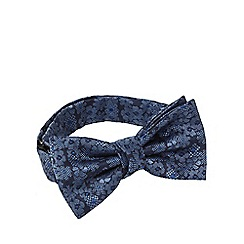 Red Herring - Blue jacquard floral bow tie