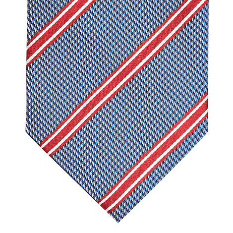 Osborne - Blue textured striped silk tie