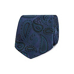 Jeff Banks - Navy paisley patterned tie
